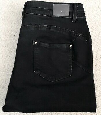 Simply Be, Shape And Sculpt Straight Leg Jeans, Black Size 16l • 5£