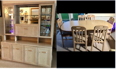 Dining Room Furniture - Extending Table, 6 Chairs & Display Cabinet Contemporary • 99£
