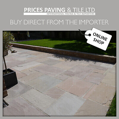 Indian Sandstone Paving | Patio Pack | Raj Green Blend | 21m2 - 2 Day Delivery* • 448.55£