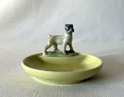 Vintage Yellow Wade Whimtrays Dog Puppy Trinket Dish Tray 7.5cm Dia • 9.95£
