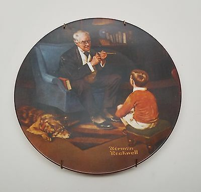 $ CDN1.26 • Buy Norman Rockwell The Tycoon Collector Plate 1981 By Edwin Knowles NO RESERVE