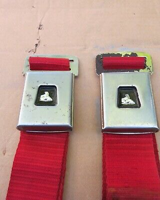 AU125 • Buy Holden Seat Belts Red May Suit Hk Ht Hg Torana Lc Lj Etc.
