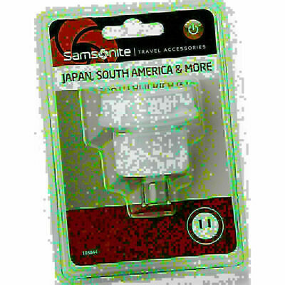 AU11.50 • Buy Samsonite Travel Accessories Adaptor Plug Australia To South America & Japan Whi