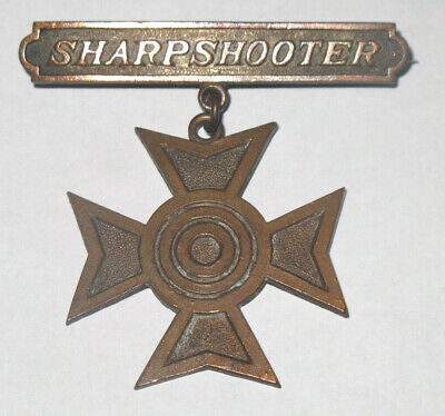$19.99 • Buy 1930'S WW2 USMC Sharpshooter Rifle Qual Badge Pin Medal Insignia Marine Corps