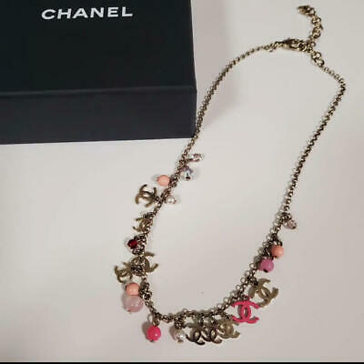 £1360.25 • Buy Auth Chanel Necklace Pink Pearl Coco Mark Cc Logo '19 Limited F/s