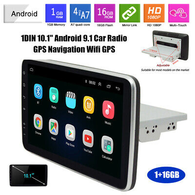 $206.99 • Buy 1DIN 10.1  Android9.1 Car Radio GPS Navigation Wifi GPS Touch Screen Player Part