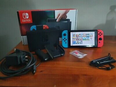 AU690 • Buy Nintendo Switch 32gb Neon Running Atmosphere Homebrew 128gb SD With Games