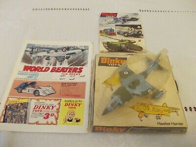 Vintage Dinky Toys Aircraft Hawker Harrier 722 • 79.99£