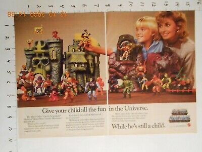 $14.99 • Buy 1984 He-Man And The Masters Of The Universe Poster AD Mattel Toy Orko Skeletor