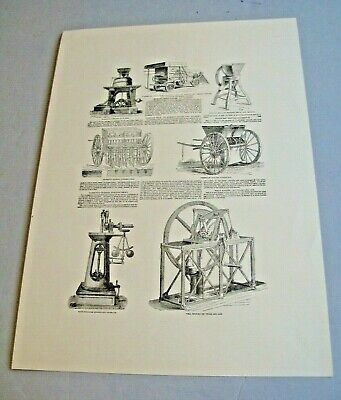 Farm Machinery - On  Light Cream Heavy Cartridge Paper (lot 86) • 5.99£