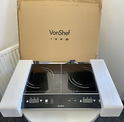 VonShef Double Induction Hob, Portable Electric 2800W Digital Display • 48.90£