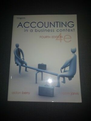 Accounting In A Business Context - Robin Jarvis, Aidan Berry - 4th Edition • 2£