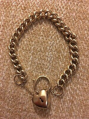 AU1500 • Buy Heavy 44 Grams 9ct Gold Padlock Bracelet