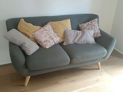AU500 • Buy Icon By Design Sixties Two Seater Sofa, Dark Grey, Scandinavian Couch