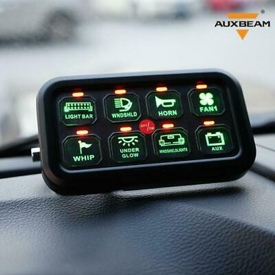 AU187.87 • Buy 8 Gang LED Switch Panel On-Off Control Relay System AUXBEAM Boat Marine Car SUV