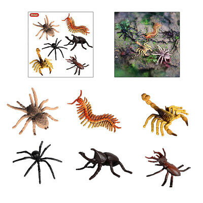 £4.12 • Buy 6Pack Insect Figures Realistic Insects Toy Catalpa Spider Scorpion Centipede