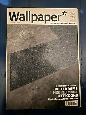 WALLPAPER MAGAZINE Oct 2007 _ HEDI SLIMANE Dieter Rams JEFF KOONS  Guest Editors • 99£