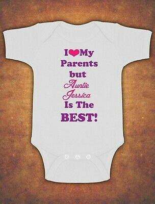 Personalised I Love My Parents But Auntie Baby Kids Grow Bodysuit Vest Girl  • 6.75£