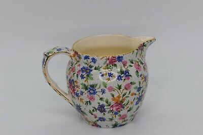 $ CDN63.24 • Buy * Grimwades * Multicolor Floral Royal Winton Ivory Old Cottage Chintz Albans Jug