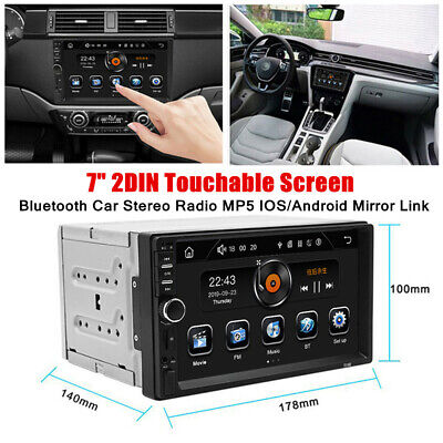 $91.49 • Buy 7 INCH Bluetooth Car Stereo Radio 2DIN HD MP5 Touch Screen IOS/Android Universal