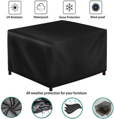 Heavy Duty Garden Patio Furniture Table Cover For Rattan Table Cube Outdoor Set • 15.86£