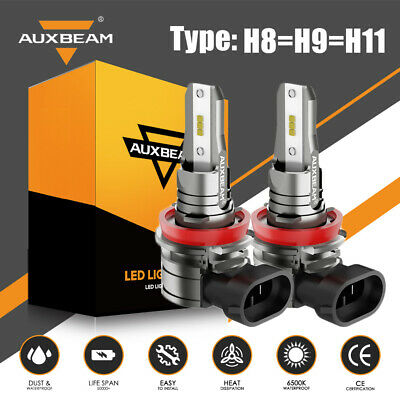 AU48.99 • Buy AUXBEAM H11 H8 H9 LED Headlight Kit Globe Bulbs High Or Low Beam 30W Super White