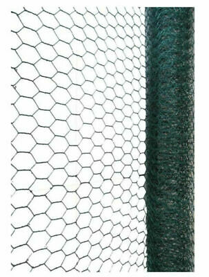 £7.99 • Buy 5m Galvanised Wire PVC Mesh Chicken Fencing Rabbit Netting Cage Outdoor Fence