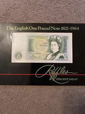£1 Bank Note Raffles English One Pound Note 1821- 1984 Last Year Of The £1 Note  • 0.99£