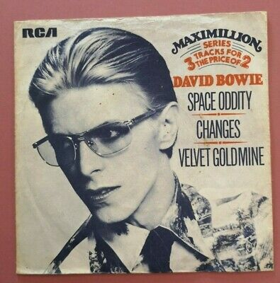 DAVID BOWIE -UK PROMO  Space Oddity  3-track 7  RCA Victor MaxiSingle &PicSleeve • 9£