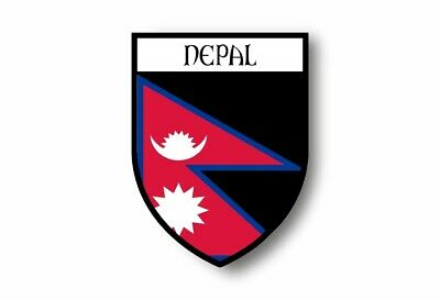 Sticker Car Motorbike Coat Of Arms City Flag Nepal Hat And Mitten Set • 3.38£