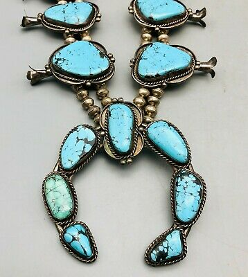 $ CDN2347.10 • Buy Bold & Beautiful Turquoise Squash Blossom Necklace