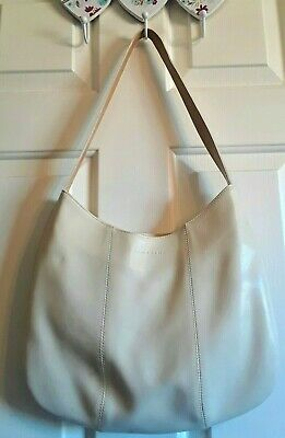 Lamarthe Made In Italy Ivory Leather Shoulder Bag. • 21.45£
