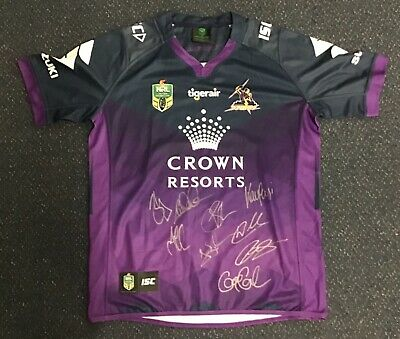 AU299 • Buy Storm Jersey Signed By 9 Members Of 2017 Squad Comes With C.o.a