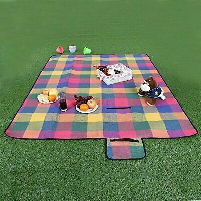 Waterproof Picnic Blanket Travelling Portable Large Rug Outdoor Camping Travel • 10.99£