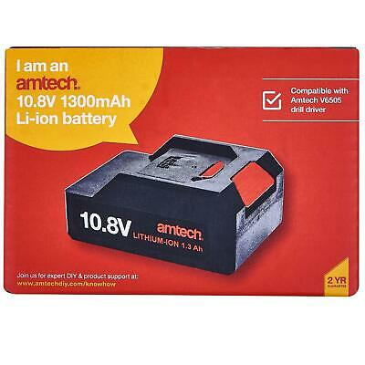 £19.27 • Buy 10.8V 1300Mah Li-Ion Replacement Battery For V6505 Cordless Drill Driver Amtech