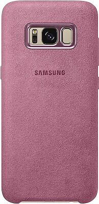 AU16.23 • Buy Samsung Alcantara Premium Back Snap-On Case Cover For Galaxy S8 - Pink