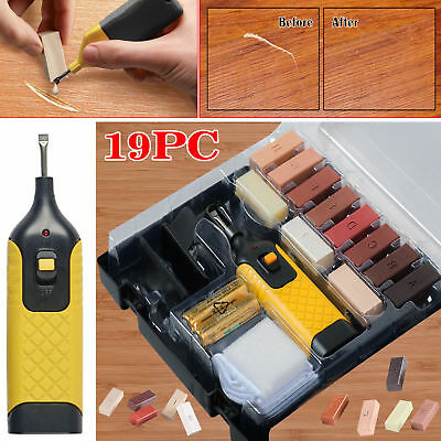 19pc Laminate Floor / Worktop Repair Kit Wax System Sturdy Case Chips Scratches • 11.95£