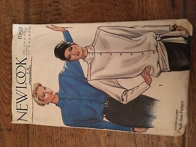 Vintage New Look Sewing Pattern, Shirt/Blouse , Ladies 8-18 • 2£