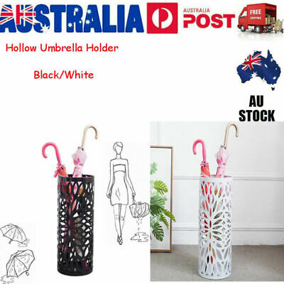 AU29.96 • Buy Steel Umbrella Stand Umbrella Walking Cane Stick Holder Storage Black/White VIC