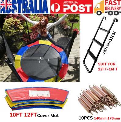 AU65.99 • Buy Replacement Trampoline Mat Cover & Ladder Safety Spring Outdoor 8FT 10FT 12FT AU