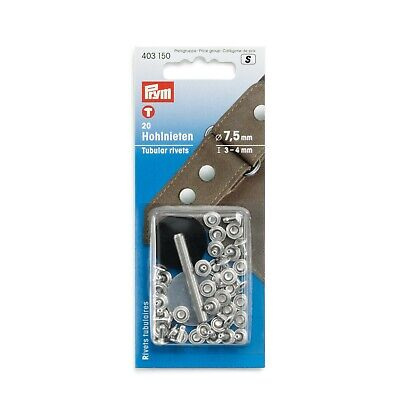 PRYM 20 HOLLOW RIVETS FOR MATERIAL THICKNESS FROM 3-4mm - Leather  - 403150 • 4.44£