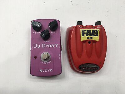 $ CDN61.41 • Buy Joyo US Dream Distortion + Danelectro FAB Echo Delay Guitar Effect Pedal Lot