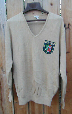 $37.99 • Buy German Military Polizei Wool Blend Sweater, Size L/XL,Grade 1 Used Cd.,free Ship
