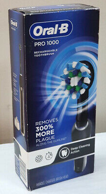 AU58.72 • Buy Oral-B Pro 1000 Crossaction Electric Rechargeable Toothbrush - Black Deep Cleani