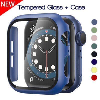 $ CDN5.22 • Buy Tempered Glass Screen+Protector Cover Case For Apple Watch Series 6 SE 5 4 3 2 1