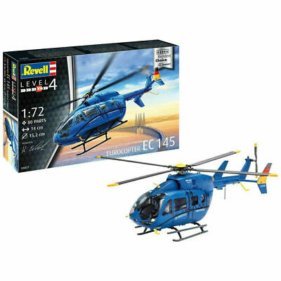 MODEL HELICOPTER Revell AirBus Ec145 Euro Copter 1:72 SCALE • 14£