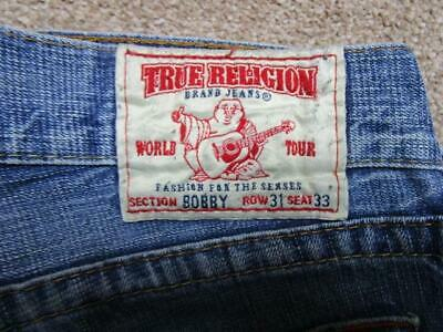 Mens True Religion 31 W 31 L Regular Straight Jeans / Ref A19 436 • 26.95£