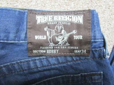 Mens True Religion Fit 34 W 28 L Midrise Regular Straight Jeans / Ref A19 440 • 29.95£