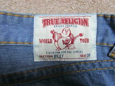 Mens True Religion 30 W 32 L Loose Fit Straight Leg Jeans / Ref A19 468 • 34.95£