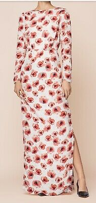 £60 • Buy By Timo Alethe Rose Floral Print 20s Style Maxi Long Dress Gown New Medium £295